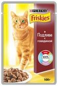 Корм для кошек Friskies с говядиной 100 г (кусочки в соусе)