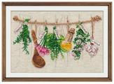 Овен Цветной Вышивка крестом Душистые травы 34 х 22 см (1079)