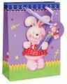 Пакет подарочный Белоснежка Розовый зайка 18x24x8 см