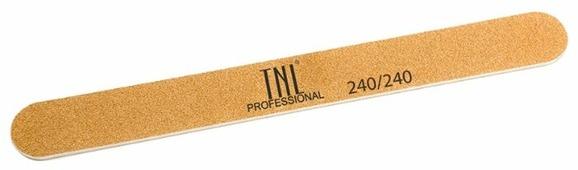 TNL Professional Пилка узкая высокое качество пластиковая основа, 240/240 грит (в индивидуальной упаковке)