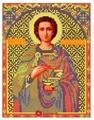 Канва для вышивания с рисунком NOVA SLOBODA Св. Пантелеймон БИС-9033 21 х 30 см