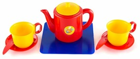 Набор посуды Пластмастер Набор чашек с чайником 21002