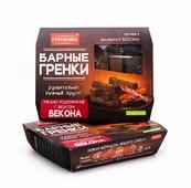 ГРЕНКОВЪ Гренки барные ржано-пшеничные со вкусом бекона, 70 г
