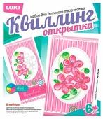 LORI Набор для квиллинга Открытка Праздничный букет Квл-006