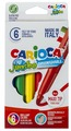 Carioca Набор фломастеров Jumbo (40568), 6 шт.