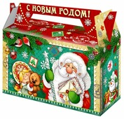 Подарочный набор ПоДари Чемоданчик деда мороза 350 г