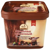 Шоколад Mr. Cho молочный для фонтана и фондю