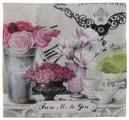 Чехол для подушки Gift'n'Home Парижские цветы 40х40 см (НВЛ-40 Fleurs(g))