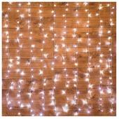 Гирлянда новогодняя светодиодная NEON-NIGHT Светодиодный дождь 1,5х1,5 м 144 диода синий (235-033)