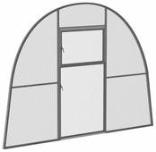 Внутренняя перегородка Тепличный выбор Усадьба макси Сер 210х350см