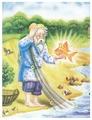 Пазл Рыжий кот Пушкин Золотая рыбка (П-9962), 24 дет.