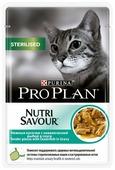 Корм для стерилизованных кошек Purina Pro Plan Nutrisavour для профилактики МКБ, беззерновой, с океанической рыбой 85 г (кусочки в соусе)