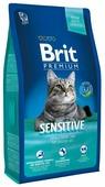 Корм для кошек Brit Premium при чувствительном пищеварении, с ягненком