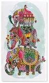 ABRIS ART Набор для вышивания бисером Три слона на счастье 46 х 26 см (AB-605)