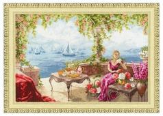 Золотое Руно Набор для вышивания Утро на берегу моря 32,5 х 46 см (ЧМ-067)