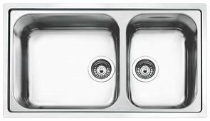 Врезная кухонная мойка smeg LG862-2 86х50см нержавеющая сталь