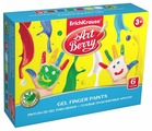 ErichKrause Гелевые пальчиковые краски ArtBerry с Алоэ Вера 6 цветов х 35 мл (41752)