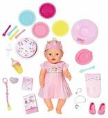 Интерактивная кукла Zapf Creation Baby Born Нарядная с тортом, 43 см, 825-129