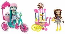 Кукла Enchantimals со зверюшкой и транспортным средством, 15 см, FJH11