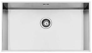 Врезная кухонная мойка smeg VSTQ72-2 74х41.8см нержавеющая сталь