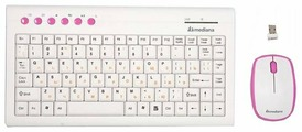 Клавиатура и мышь Mediana KM-313 White-Pink USB