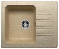 Врезная кухонная мойка Polygran F-07 61х50см искусственный мрамор