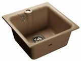 Врезная кухонная мойка GranFest Practic GF-P420 42х42см искусственный мрамор