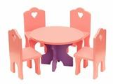 Краснокамская игрушка Столик с четырьмя стульчиками (КМ-03)