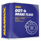 Тормозная жидкость Mannol DOT 4 0.5 л