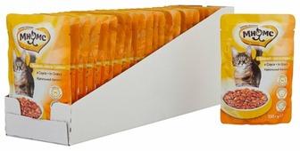 Корм для стерилизованных кошек Мнямс для профилактики МКБ, с курицей 100 г (кусочки в соусе)