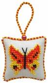 ZENGANA Набор для вышивания бисером и нитками Солнечная бабочка 5 х5 см (M038)
