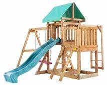 Домик Babygarden с балконом, рукоходом и горкой 2.4 м