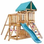 Домик Babygarden с балконом, закрытым домиком, скалолазкой и горкой 1.8 м