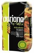 ADRIANA Макароны Pasta Tricolore Torti 32 с томатами и шпинатом, 500 г