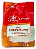 Рис Агро-Альянс Басмати длиннозерный пропаренный шлифованный 3 кг