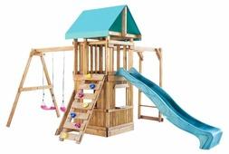 Домик Babygarden с рукоходом, закрытым домиком, скалолазкой и горкой 2.4 м