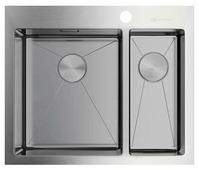 Врезная кухонная мойка OMOIKIRI Akisame 60-2 IN-L 60.5х51см нержавеющая сталь