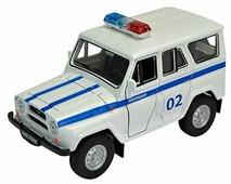 Внедорожник Welly УАЗ 31514 Полиция (42380PB)
