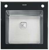 Врезная кухонная мойка Tolero Glass TG-500 50х50см нержавеющая сталь