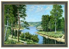 Алмазная живопись Набор алмазной вышивки Российский пейзаж (АЖ-1237) 50х33 см