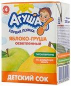 Сок осветленный Агуша Яблоко-груша, c 4 месяцев