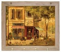 Вешалка Gift'n'Home для полотенец Парижское кафе 4 крючка