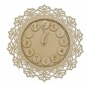 Astra & Craft Деревянная заготовка часы Кружевные (L-686)