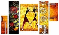 Модульная картина Картиномания Две танцующие африканки этническое ретро