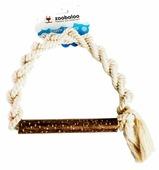 Канат для собак Zoobaloo Плетеное кольцо с апортом из орешника 25 см