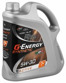 Моторное масло G-Energy Synthetic Active 5W-30 4 л