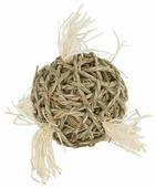 Игрушка для грызунов Fauna International Мяч с хвостиками 10см водоросли