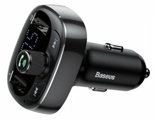 FM трансмиттер Baseus T typed Bluetooth MP3 Car Charger S-09 черный