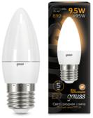 Лампа светодиодная gauss 103102110, E27, C37, 9.5Вт