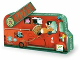 Пазл DJECO Пожарная машина (07269), 16 дет.